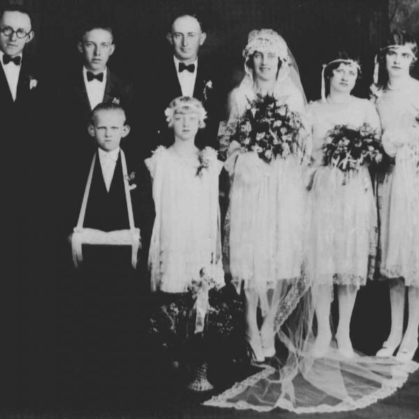 Wildwood Historical Society - Atwell Wedding - Harry and Ruby Homan Atwell wedding photo - 1920s