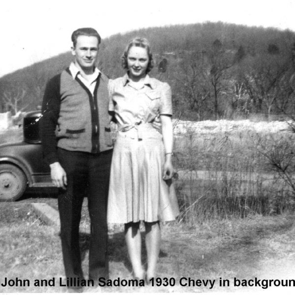 Wildwood Historical Society - John and Lillian Sadoma - John and Lillian Sadoma in front of their 1930 Chevy
