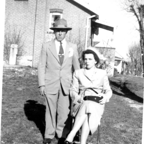 Wildwood Historical Society - Juanita and Henry Klump - Juanita and Henry Klump wedding day - 1950