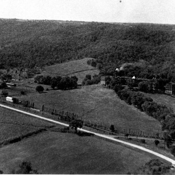 Wildwood Historical Society - La Salle - Aerial view of La Salle, Glencoe