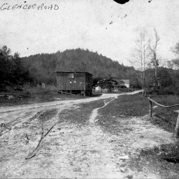 Wildwood Historical Society - Glencoe Road - View down Glencoe Road